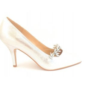 Alyssa Silver Court Shoe