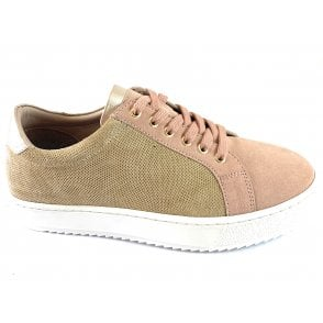 Amsterdam Natural and Pink Leather Casual Shoe
