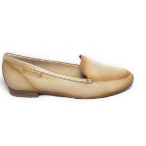 Anamica 411-91260-4100 Beige Leather Loafers