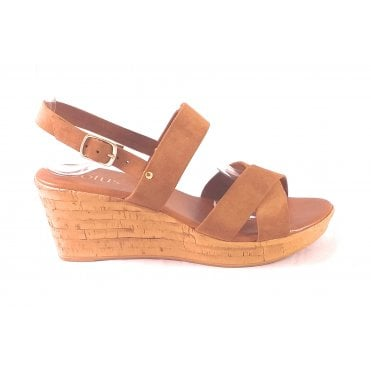 Angelica Tan Wedge Sandal