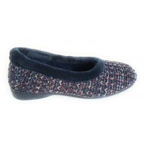 Anouk Blue Knitted Slipper