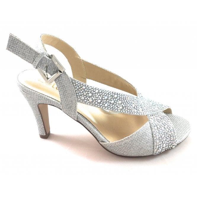 Lotus Anya Silver Diamante Sandal