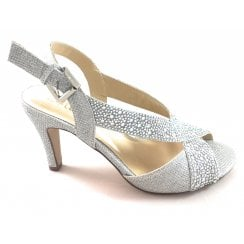 Anya Silver Diamante Sandal