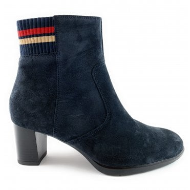 12-13407 Orly Navy Suede Ankle Boot