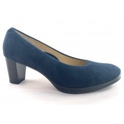 12-13436 Orly Navy Suede Court Shoe