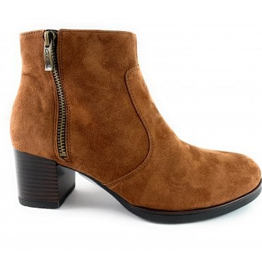 12-16968 Florenz HighSoft Tan Suede Ankle Boot