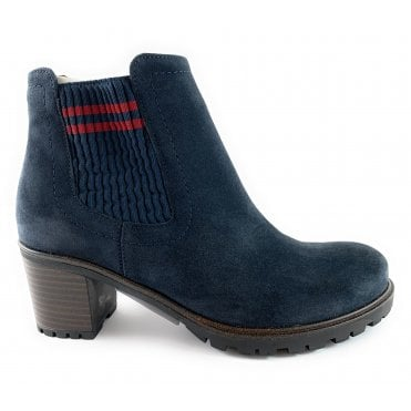 12-47318 Mantova Navy Suede Ankle Boot