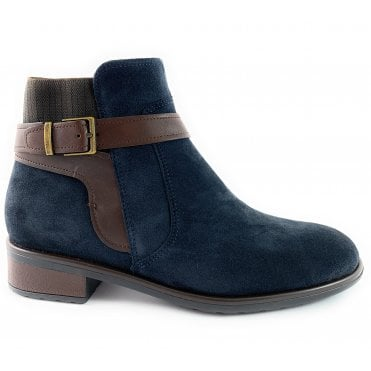 12-49524 Liverpool Navy Suede Ankle Boot