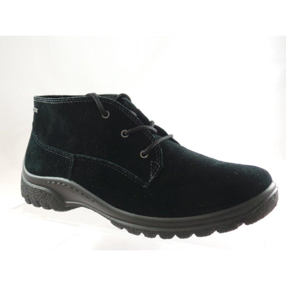 Ara Passau 1249302 Black Suede GoreTex LaceUp Ankle Boot
