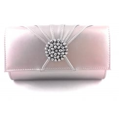 Aria Pewter Metallic Clutch Bag