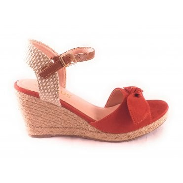 Ashley Rust Espadrille wedge Sandal