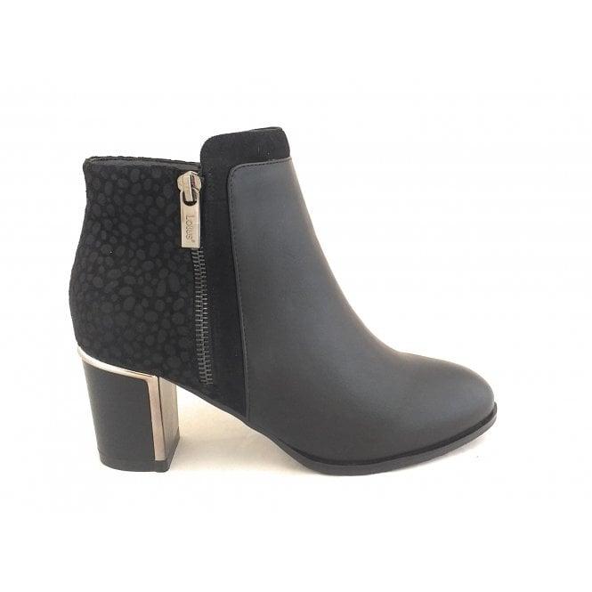 Lotus Athena Black Ankle Boots