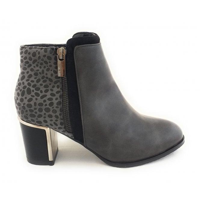 Lotus Athena Grey Ankle Boots