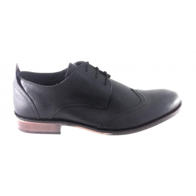 Lotus Attingham Black Leather Lace-Up Shoe
