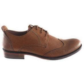 Attingham Tan Leather Lace-Up Shoe