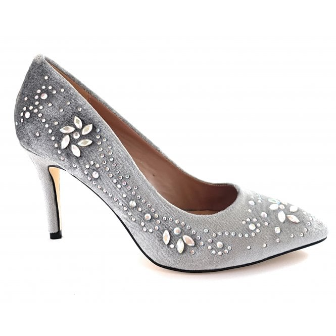 Lotus Avalina Silver Court Shoe