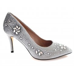 Avalina Silver Court Shoe
