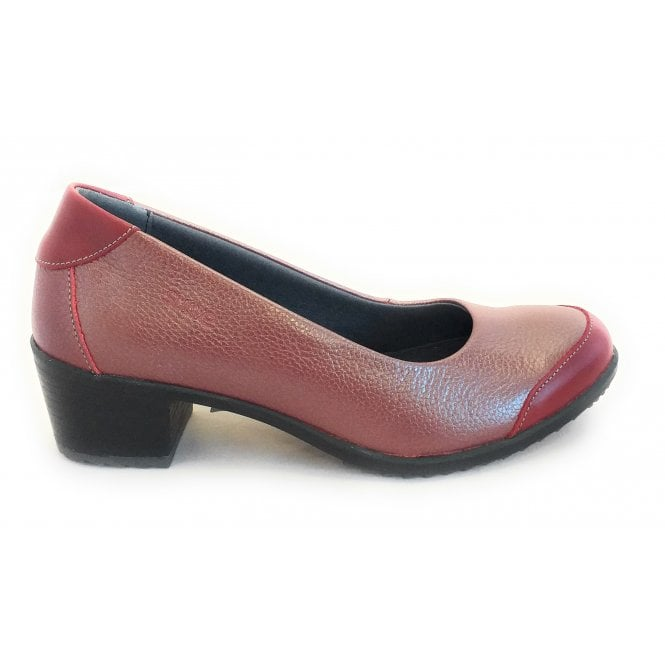 Suave Avalon Berry Red Court Shoe