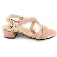 B320 America Pink Suede and Rose Gold Sandal