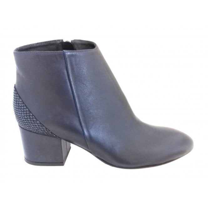 HB B935 Marta Navy Blue Leather Ankle