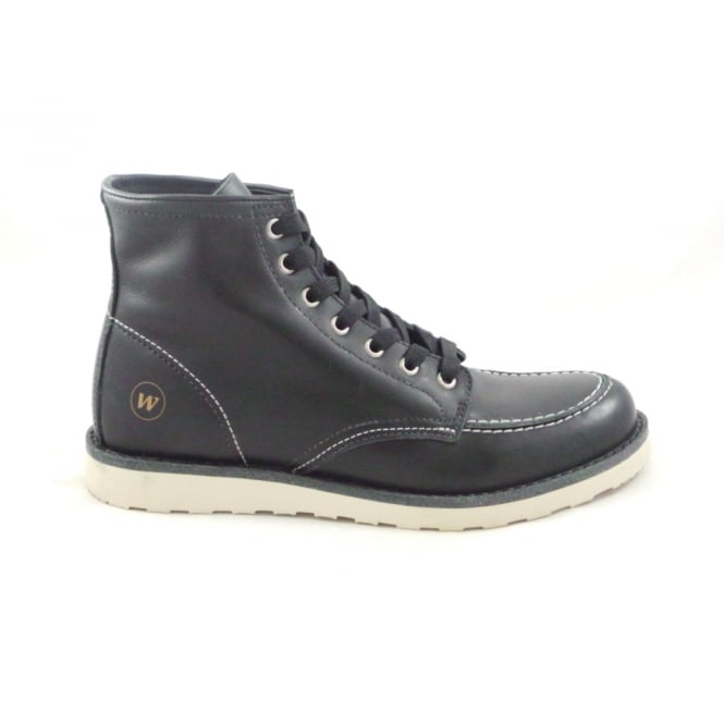West Coast Baltimore Black Leather Mens Lace-Up Boot