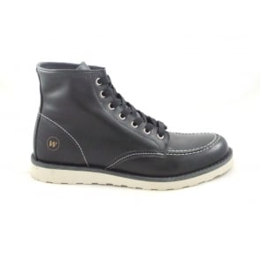 Baltimore Black Leather Mens Lace-Up Boot