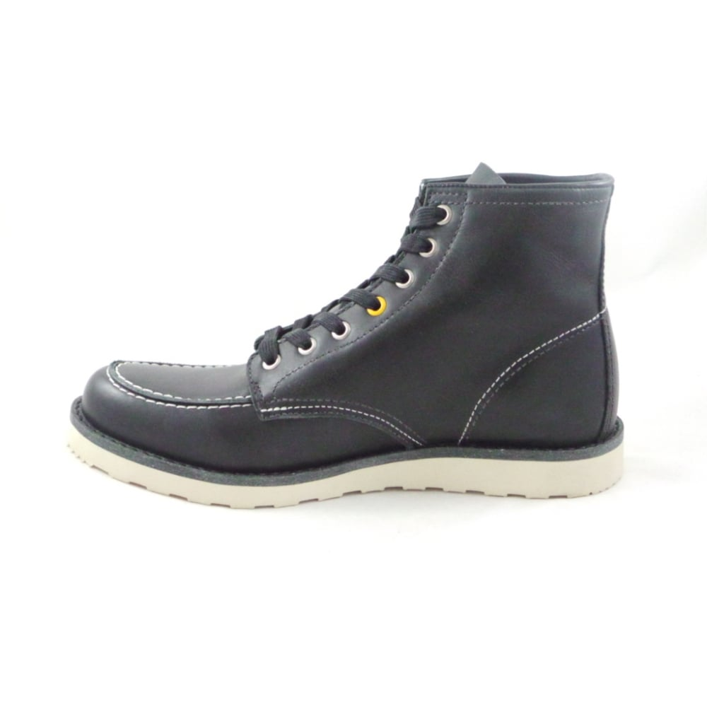 baltimore black leather mens lace up boot from