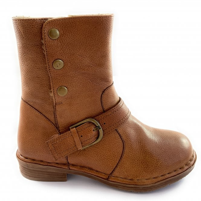 Lotus Banan Tan Leather Ankle Boot