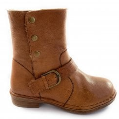 Banan Tan Leather Ankle Boot