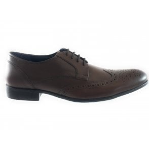 Bannerman Brown Leather Lace-Up Brogue
