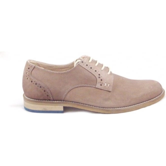 Lotus Banwell Washed Tan Nubuck Leather Lace-Up Casual Shoe