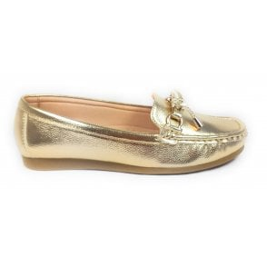 Bea Gold Loafers