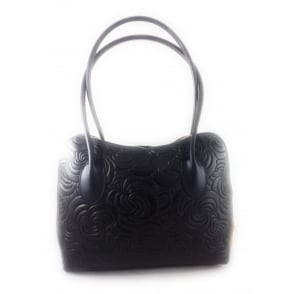 Beacon Leather Floral Print Handbag