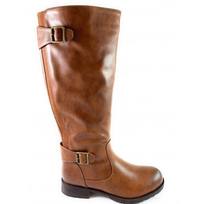 Lotus Beal Brown Knee-High Boot