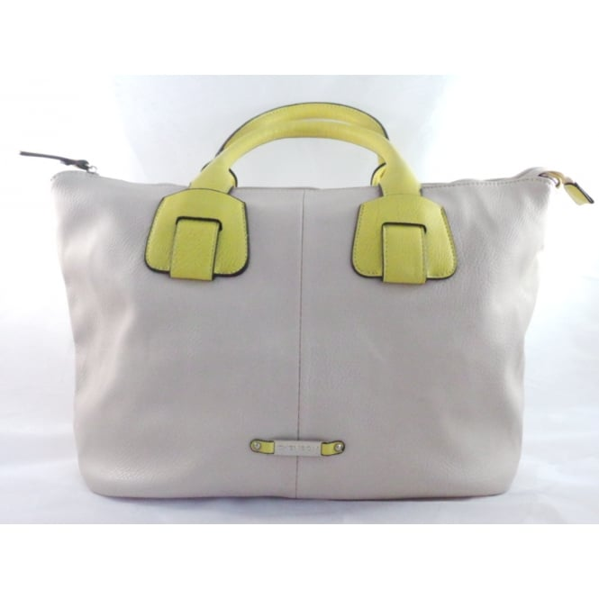 Lotus Beige and Yellow Tote Bag