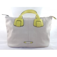 Beige and Yellow Tote Bag