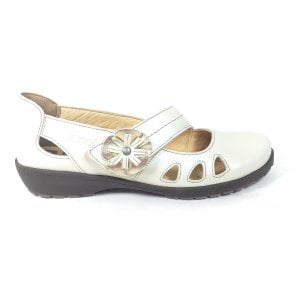 Beige Leather Casual Shoes