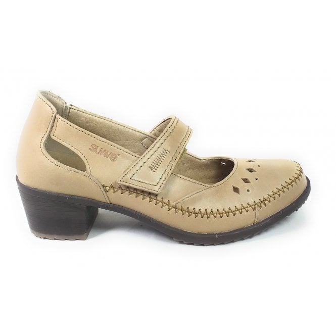 Suave Beige Leather Casual Shoes