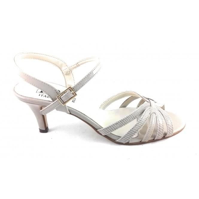 HB Beige Leather Open-Toe Sandal