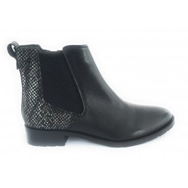 Bertie Black Leather Ankle Boot