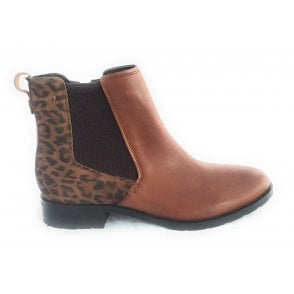 Bertie Tan Leather Ankle Boot