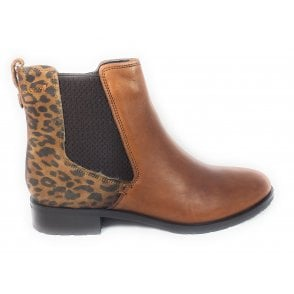 Berty Tan Leather Ankle Boots