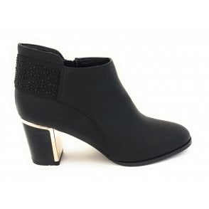 Beth Black Heeled Ankle Boot