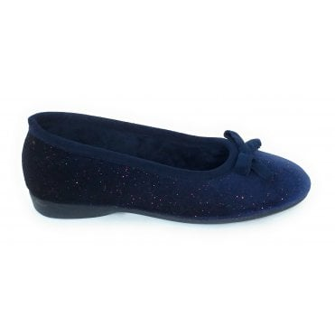 Bevel Navy Slipper