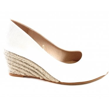 Bianca White Espadrille Wedge