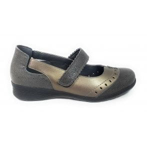 Bibby Taupe Leather Casual Shoes
