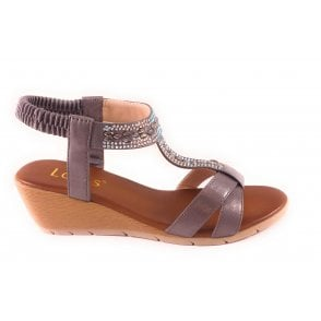 Bindi Pewter Wedge Sandal