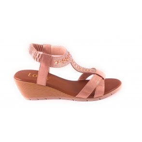Bindi Pink Wedge Sandal