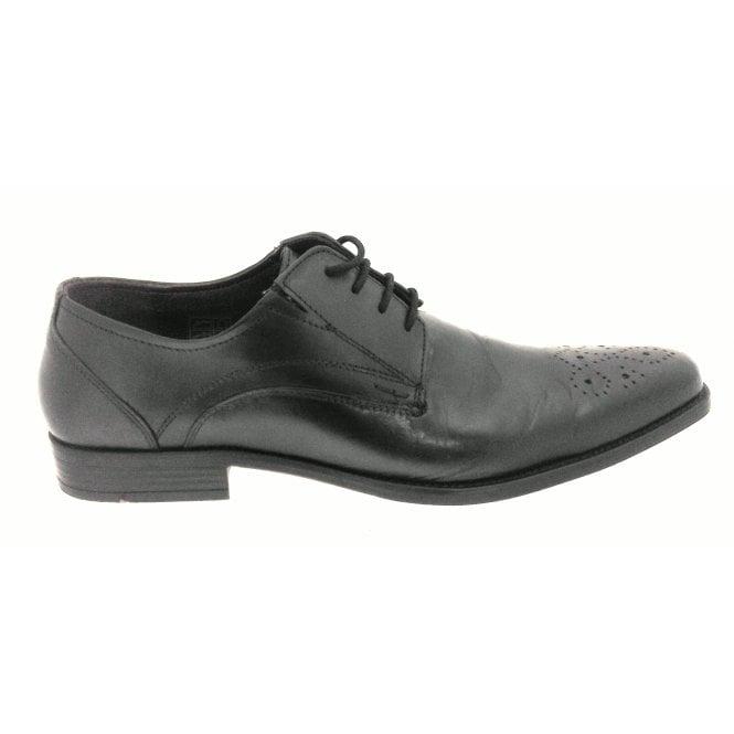 Lotus Birkdale Men's Black Leather Lace-Up Shoe
