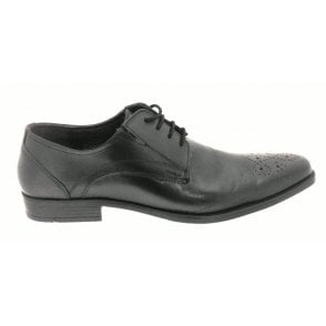Birkdale Men's Black Leather Lace-Up Shoe